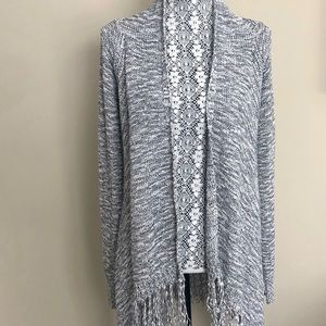 Lovestich Long Open Cardigan W/Fringes